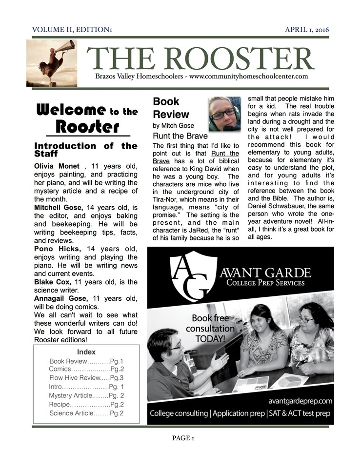 Rooster Volume 2, edition 1 p1